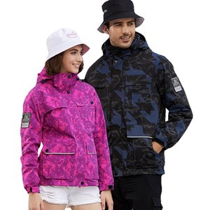 Wholesale ski jackets men resale online - 3 In Winter Ski Jacket Men Women Thick Warm And Cold proof Snow Coat Outdoor Windproof Waterproof Mountain Snowboard Clothes