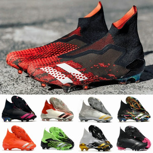 Wholesale high green soccer shoes for sale - Group buy Soccer Cleats Mens Messi Predator Mutator High FG Slip On Soccer Shoes Core Black White Active Red Gold Football Boots botas de futbol