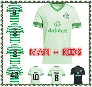 man kids kit 20 21 Celtic home Soccer Jerseys EDOUARD 2020 2021 BROWN FORREST CHRISTIE Football Shirt GRIFFITHS Celtic 3rd MCGREGOR Jersey