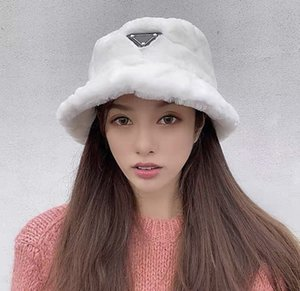 Wholesale silk triangle resale online - 2020 women and men bucket hat classic travel caps material triangle badge patch Windproof and sunscreen color winter hat