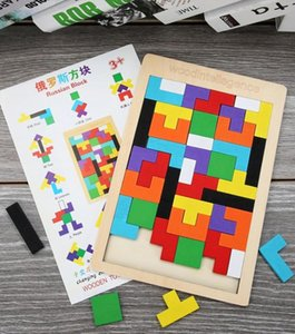 Wholesale brain game for sale - Group buy New Game intelligence Game Colorful Wooden Toys Tangram Brain Teaser Puzzle Toys Game Toys for Kid Gift