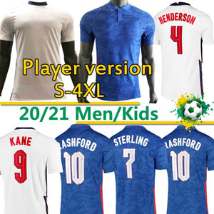 ingrosso calcio uk-England soccer jersey Eng Soccer Land Player Version Jerseys Coppa Europea National Team Kane Rashford De Dele Sterling Mout Camicie da calcio Uomo Uniformi