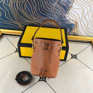 Wholesale bucket parts resale online - Small Bucket Handbag Crossbody Handbag Bag Drawstring Shoulder Bag Calfskin Leather Bag Classsic Lady Wallet Purse Gold Metal Parts