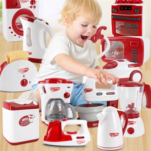 Wholesale toy microwaves for sale - Group buy Simulation Pretend Play Kettle Electric Iron Washing Machine Vacuum Cleaner Microwave Oven Kitchen Appliance Child Housework Toy LJ201211