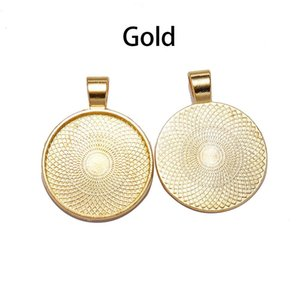 Wholesale tray pendant blanks gold for sale - Group buy 10pcs Mm Cabochon Base Tray Bezels Blank Gold Necklace Pendant Setting Cabochon Base For Jewelry Making Supplies Q sqcPBc