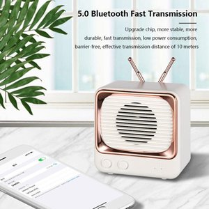 Wholesale smallest mp3 player bluetooth for sale - Group buy DW02 Retro Small TV Bluetooth MINI Speaker Wireless Home Outdoor Relax Radio USB TF MP3 Player Card Wireless Subwoofer