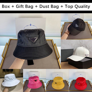 Wholesale boxes for hats resale online - For Gift With Box Gift Bag Dust Mens Women Bag Bucket Hats Baseball Cap Golf Hat Snapback Beanie Skull Caps Stingy Brim Top Quality