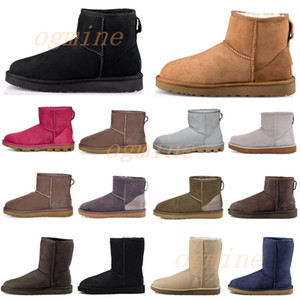 gris large mollet bottes  achat en gros de-news_sitemap_home2021 Classic us australia wgg women womens boot girls lady bailey Bow ribbon winter snow Half Knee australian boots c03