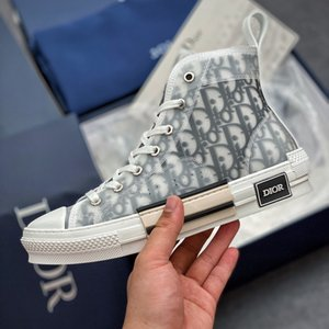 kadın topuklu ayakkabı toptan satış-All star KAWS By Kim Jones Dior B23 OBlique sneakers high heel technical Homme canvas shoes men s and women s casual shoes