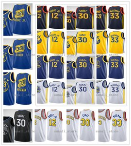 nueva camiseta amarilla al por mayor-2020 New Hombres Mujeres Niños Jóvenes Kelly OUBRE JR JAMES WISEMAN STEPHEN CORRY Jerseys Baloncesto Ciudad Navy Negro Amarillo Azul Blanco