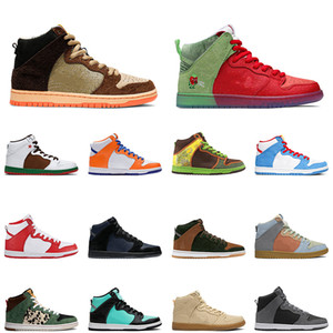 Wholesale pu dog for sale - Group buy 2020 dunk high men women running shoes walk the dog strawberry cough mens trainer sports sneakers
