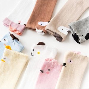 fuchs socken großhandel-Babysocken Karikatur Fox Kleinkind Socken Tier Infant Socke Anti Slip Cotton Footsocks Knee High Newborn warme Fußbekleidung Designs FWA2396