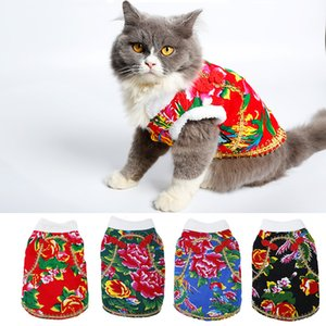 Wholesale tv extra for sale - Group buy Cat Costumes for New Year Jubilant Pet Costumes Price Best Salling Winter Pet Clothes Chinese Traditional Design Cute and Fashion