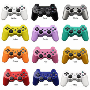 ingrosso doppio joystick-Controller PS3 Controller wireless Bluetooth Game Double Dual Shock Console per PlayStation Joysticks Gamepad console con scatola al minuto