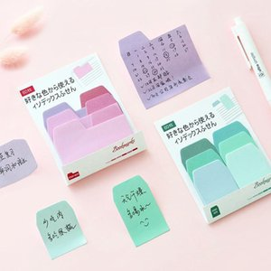 Wholesale small memo pads for sale - Group buy Colorful index sticky notes and memo pad Small convenient paste stickers Stationery Office accessories School supplies A66621
