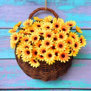 Wholesale paper flowers bouquet for sale - Group buy 24 Heads Bunch Paper Artificial Sunflower Flower Bouquet Handmade For Wedding DIY Wreath Scrapbooking Craft Fake Flowers