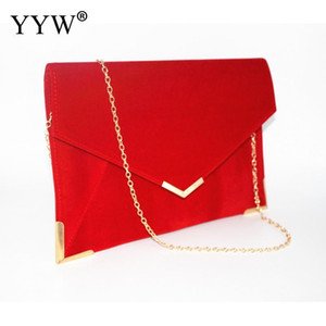 Wholesale party envelope purse resale online - Red Designer Envelope Handbag For Women Bag Shoulder Bags Clutches Evening Party Prom Black Clutch Purse Q1117