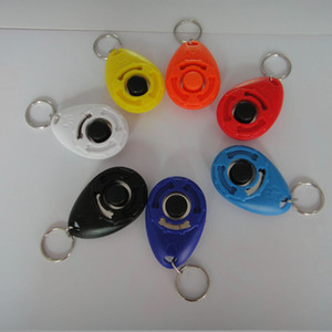 Wholesale sound buttons resale online - 7 Colors Dog Trainer Pets Teaching Tool ABS Agility Aid Wrist Lanyard Button Clicker Sounder Pet Trainers Supplies Portable sn M2