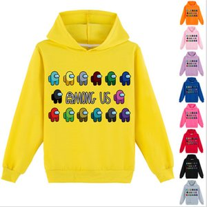 Wholesale hoodies kids for sale - Group buy Among Us Sweatshirts Kids Children Tops Pullover Game Hoodies Designer Hooded Sweater Junior Boy Girl Long Sleeve Blouse Clothes G10605