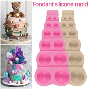 Wholesale decorative household for sale - Group buy Household Silicone Chocolate Molds Mousse Cake Baking Mould Non Stick Hemisphere Candy Decorative Mold Tray Kitchen Baking Tools