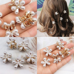 Wholesale mini plastic claw clip for sale - Group buy Daisy Pearl Hair Clips Mini Elegant Metal Plastic Side Clip Claws Women Girl White Make Up Hairpin Jewelry Accessories Hot Sale yx M2