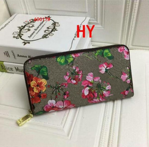 Wholesale animal passport holder for sale - Group buy Fashion Women graffiti wallet long wallet lady Flower animals coin purse Card holder women classic zipper pocket clutch