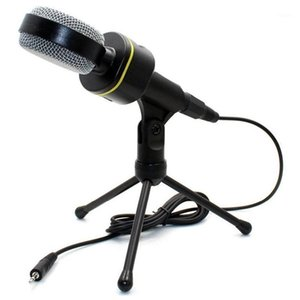 Wholesale karaoke bars for sale - Group buy Condenser Recording Microphone with Stand Microphone for PC Mobile Phone Live Singing Bar Karaoke Laptop1