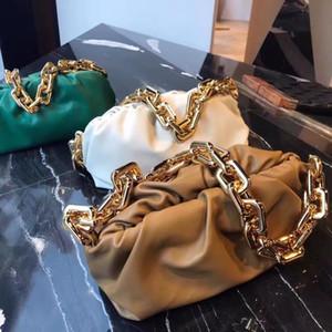 2020 women's real leather bag cloud bag soft wrinkled dumpling Shoulder Messenger Bag large chain handbag designer women's fashion handbag
