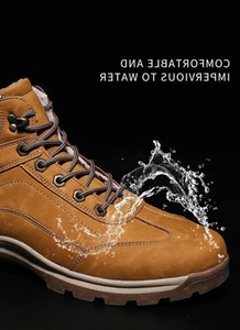 zapatos cortos para hombre al por mayor-2021 Fashion Warm Mens Boots Winter New New Womens Boots de nieve Velvet Acolchado Acolchado Alto Top Zapatos de algodón impermeable A prueba de agua Zapatos clásicos cortos