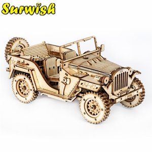 Wholesale car assembly toys resale online - new DIY Assembly Handmade D Wooden Puzzle Car Model Diy Assembly Toys For Kids Boys Gifts High Quality