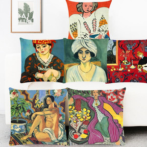 ingrosso dipinti a colori-Henri Matisse Color Paintings Art Cushion Coperture Armonia in rosso The Sailor Cushion Cover Decorative Poliestere Fodera