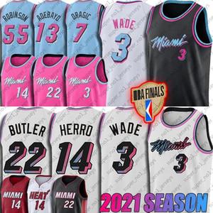 Jimmy Goran Butler Dragic Jersey MiamiHeat3 Dwyane Tyler Bam Wade Herro Adebayo Jerseys Kendrick Duncan Nunn Robinson Jersey