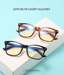 Wholesale gaming glasses resale online - Blue Fashion Anti Computer Anti Light Leopard Plastic Blocking Eyewear Rays Eyeglasses Unisex Glasses Blue Gaming Eye Glass Gamnm