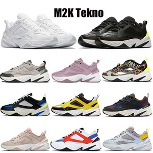 pai sapatos desportivos  venda por atacado-2021 Novo Monarca o M2K Tekno Dad Sports Correndo Tênis Branco Puro Platinum Top Quality Mulheres Mens Zapatillas White Sports Trainers Sneakers