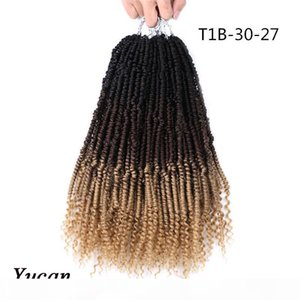 extensiones de 12 pulgadas de pelo sintético. al por mayor-Play Twist Twist Hair Twist Bomba Twistonada pulgadas Pasión Twies Crochet Hair Roots Synthetic Braiding Hair Extensions g PC