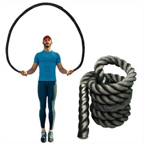Wholesale battle rope for sale - Group buy Fitness Heavy Jump Rope Crossfit Weighted Battle Skipping Ropes Power MMA Training Improve Strength Muscle mm XA96Y Q1206