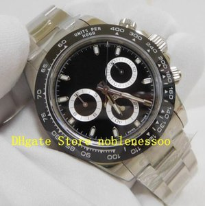 Wholesale chrono chronograph for sale - Group buy 16 Style Swiss CAL Movement Men s mm Steel Mens Black White Chrono Watch LN Automatic ETA Mens Watches