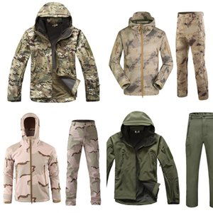 Wholesale softshell tactical jackets for sale - Group buy Winter Tactical Softshell Camouflage Jacket Set Men Army Windbreaker Waterproof Clothing Suit Army Military Jacket Fleece Coats Z1210