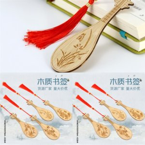 ingrosso piccoli segnalibri-2 PU Brass Series Chinese Book Hollow Bookmark Bookmark Metal Small Designer Mini Sakura Bookmark Stile nastro rosa