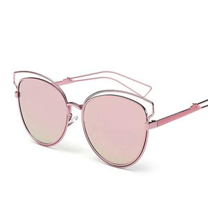 Wholesale queen college sunglasses for sale - Group buy Queen College Newest Brand Cat Eye Sunglasses Women Hollow Metal Frame High Quality Sun Glasses Vintage retro UV400 ladies