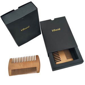 Wholesale curly hair resale online - Vôsaidi Wooden Comb Hair Beard Detangler for Women and Men Fine Tooth Wide Tooth Natural Anti Static Wood for Straight Hair Dry Curly