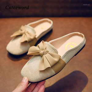 Wholesale sandals of girls for sale - Group buy Children Sandals Girls Slippers Non slip Soft Bottom Set of Feet Kids Home Shoes Summer New Suede Bow Princess Girls Sandals1