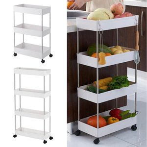 Wholesale cart wheels resale online - Household Storage Cart Mobile Storage Unitsw with Wheels for Kitchen Bathroom Laundry