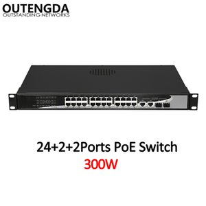 Wholesale switching networking resale online - 24 Mbps POE Network Switch Standard af at Switch with Mbps UPlink and Gigabit SFP for IP Camera Wireless AP