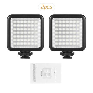 adaptador de montaje de zapata de cámara al por mayor-Andoer W49 UNIDS MINI CAMERA LED PANEL LED Foto de video Lámparas de videocámara regulables con adaptador de montaje en zapatos para DSLR