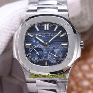 Wholesale steel reserves for sale - Group buy 2020 PF Sport Watches A Moon Phase Power Reserve Blue Dial Cal Mechanical Hand winding Mens Watch Sapphire Steel Case
