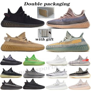 Wholesale white man shoes resale online - Kanye West Bred Earth Oreo men women running shoes Black Static Reflective Cream White Beluga Yecheil Cinder Zebra v2 sports sneakers