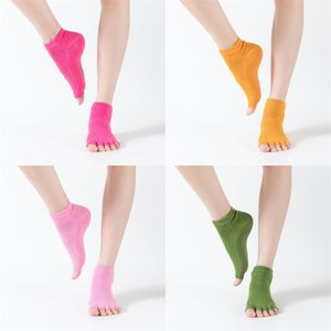 Wholesale yoga toe for sale - Group buy Women Fashion Stockings Anti Skid Floor Anklet Socks Indoor Sports Peep Toe Yoga Stocking Multi Color ch O2
