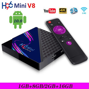 New H96 Mini V8 Smart TV Box Android 10.0 RK3328A 4K 3D Media Player 2.4G Wifi Set top Box