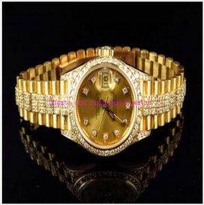 Wholesale latest ladies watches for sale - Group buy Original Box Top Quality Excellent Ladies MM Latest k Yellow Gold Diamond Watch Automatic Watch Watches